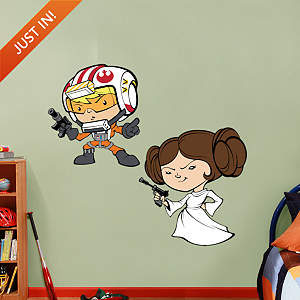 Luke Skywalker & Princess Leia POP! Fathead Wall Decal